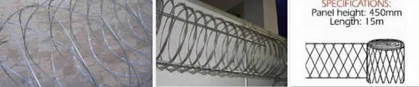 "Razor Wire Razor Ribbon Barbed Wire 18"" 5 Coils 250 Feet Coverage"