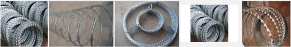 450mm Coil Diameter Concertina Razor Wire
